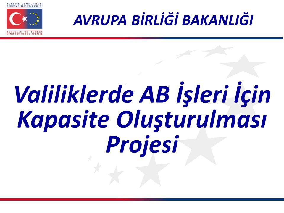 Valiliklerde AB İşleri İçin Kapasite Oluşturulması Projesi