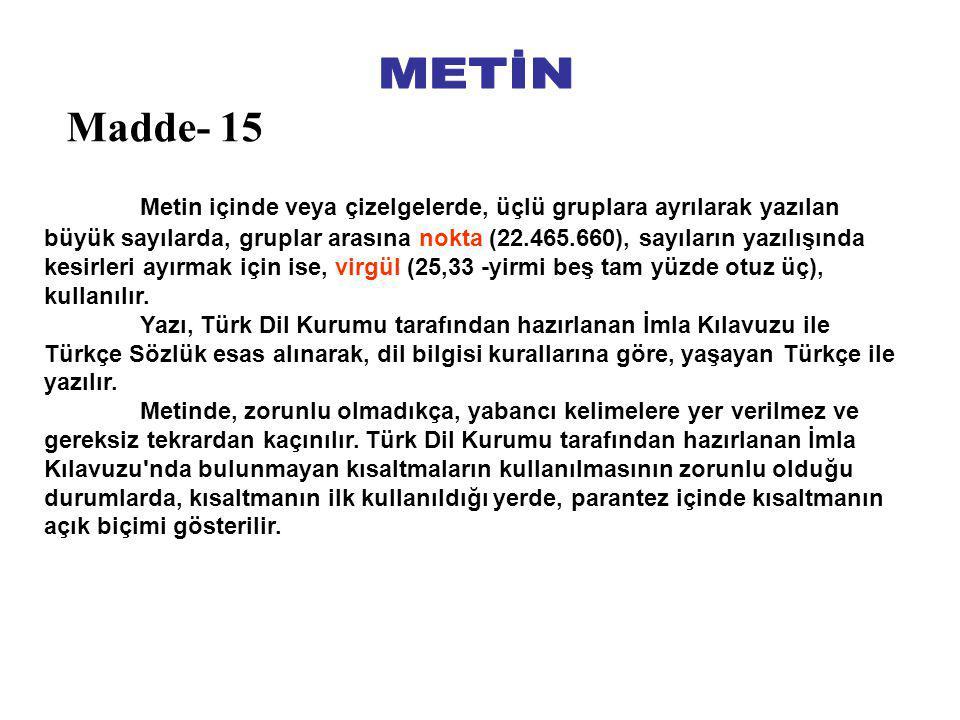 METİN Madde- 15.