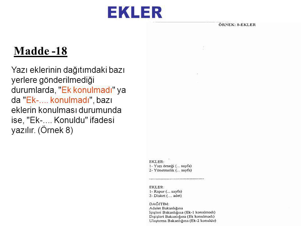 EKLER Madde -18.