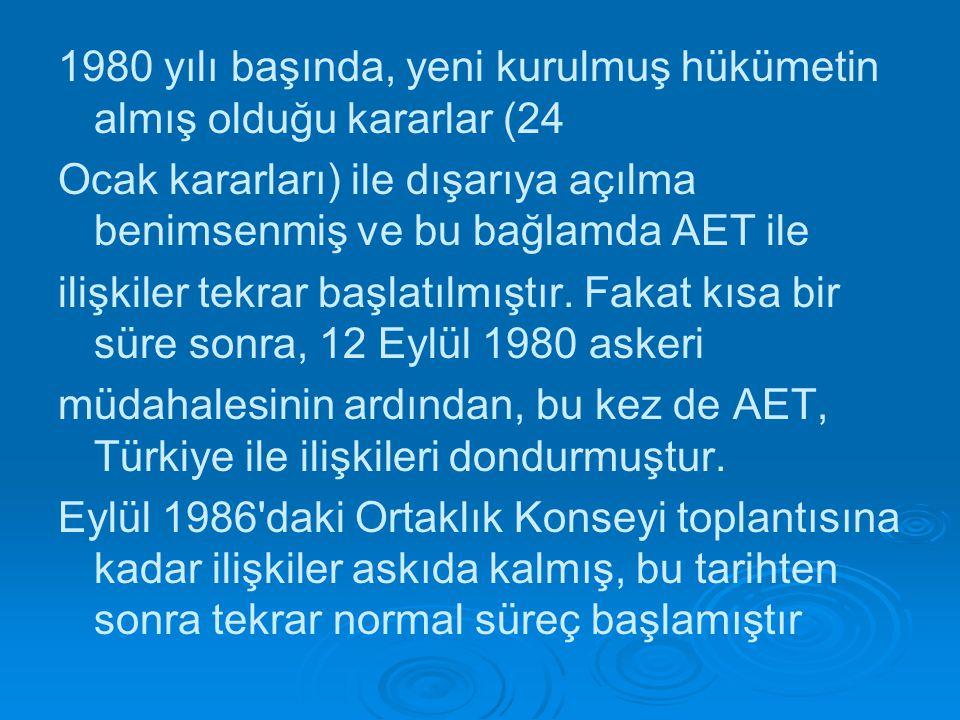 1980 yılı başında, yeni kurulmuş hükümetin almış olduğu kararlar (24