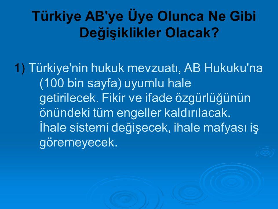 Türkiye AB ye Üye Olunca Ne Gibi Değişiklikler Olacak