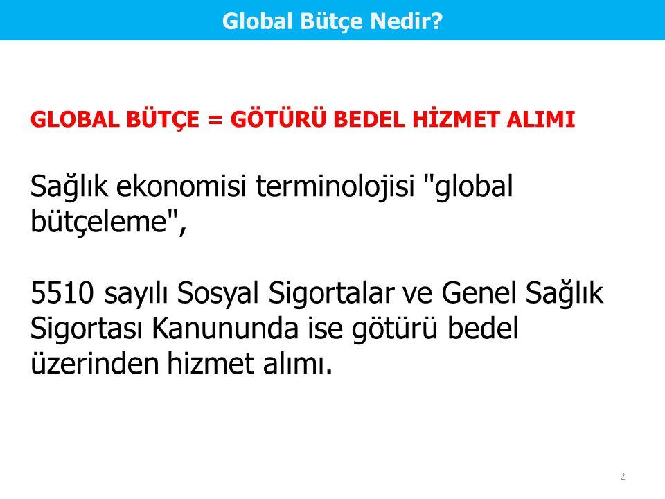 Sağlık ekonomisi terminolojisi global bütçeleme ,