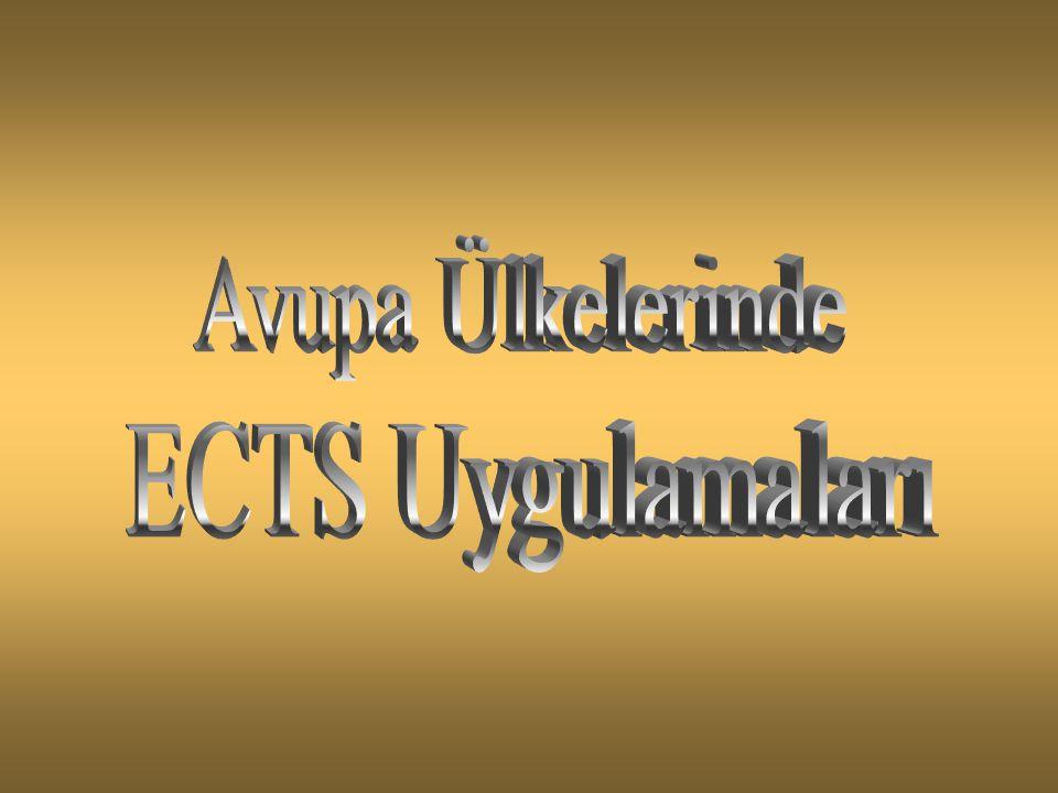 Avupa Ülkelerinde ECTS Uygulamaları