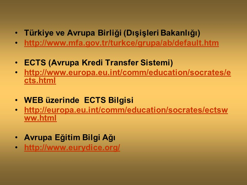 Türkiye ve Avrupa Birliği (Dışişleri Bakanlığı)