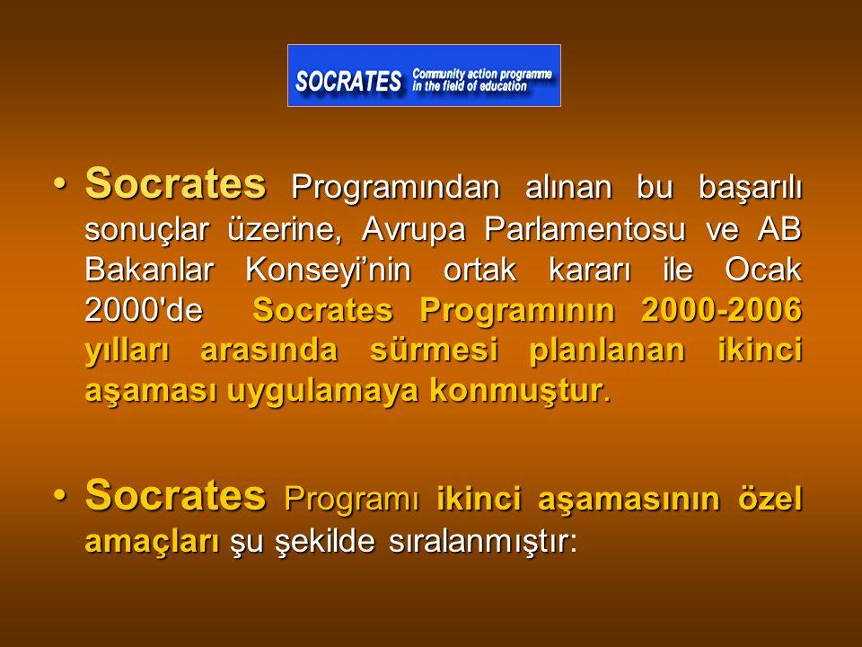 Socrates Programından alınan bu başarılı sonuçlar üzerine, Avrupa Parlamentosu ve AB Bakanlar Konseyi'nin ortak kararı ile Ocak 2000 de Socrates Programının 2000-2006 yılları arasında sürmesi planlanan ikinci aşaması uygulamaya konmuştur.
