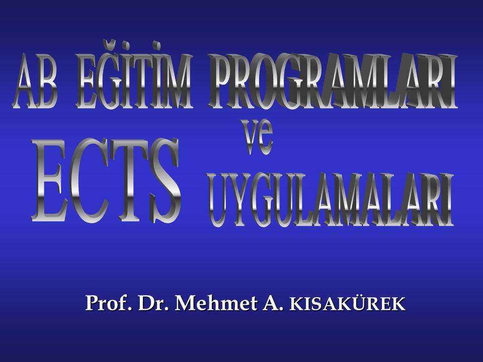 Prof. Dr. Mehmet A. KISAKÜREK