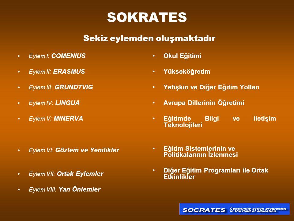 SOKRATES Sekiz eylemden oluşmaktadır