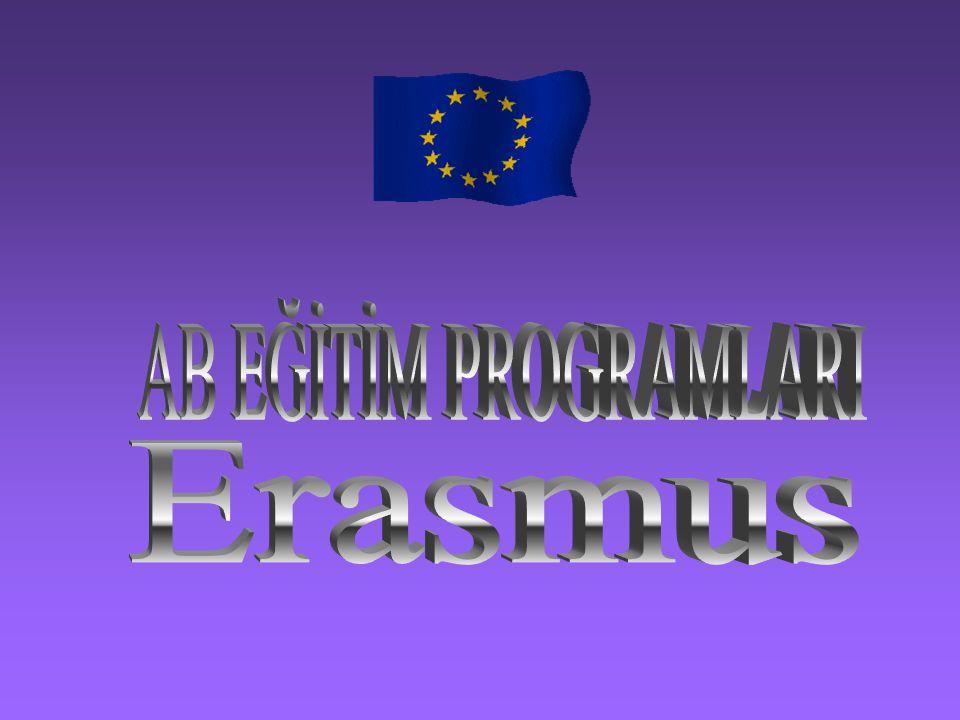 AB EĞİTİM PROGRAMLARI Erasmus