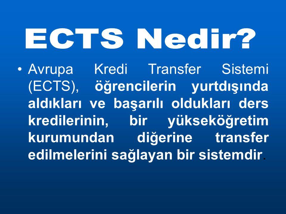 Avrupa Kredi Transfer Sistemi (ECTS), öğrencilerin yurtdışında aldıkları ve başarılı oldukları ders kredilerinin, bir yükseköğretim kurumundan diğerine transfer edilmelerini sağlayan bir sistemdir.