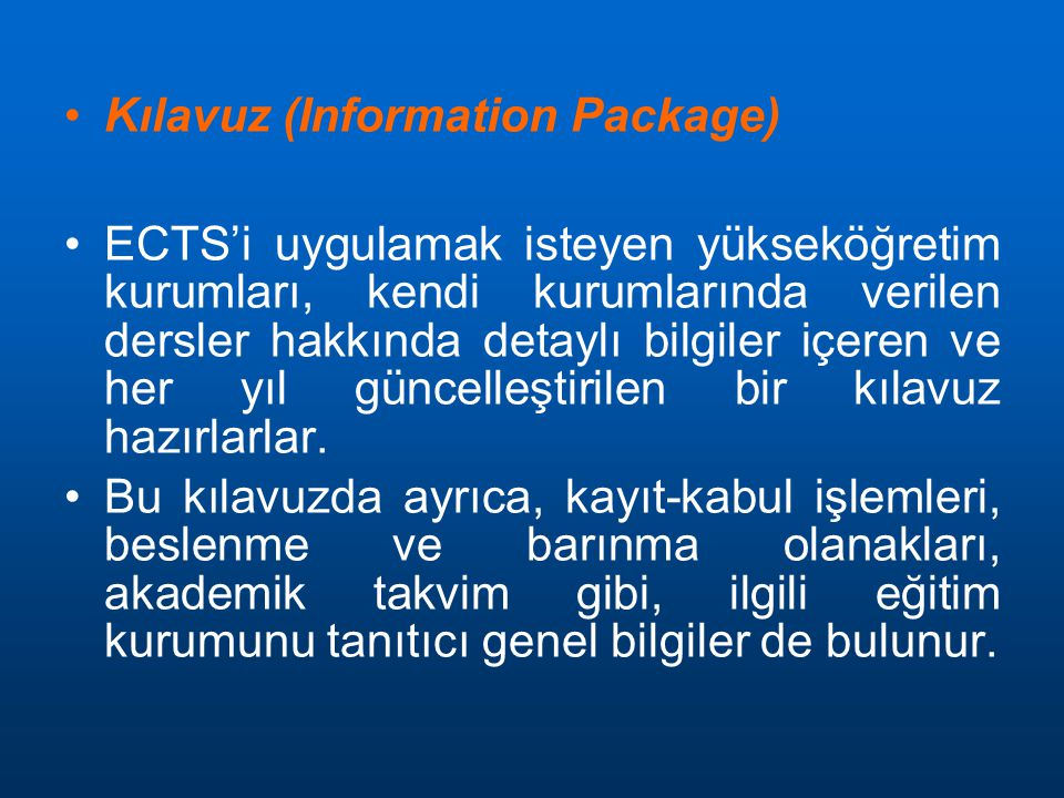 Kılavuz (Information Package)