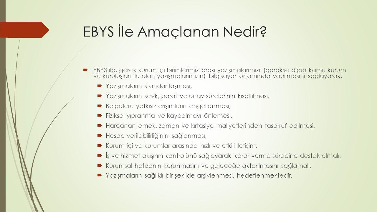 EBYS İle Amaçlanan Nedir