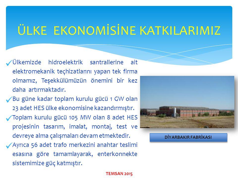 ÜLKE EKONOMİSİNE KATKILARIMIZ