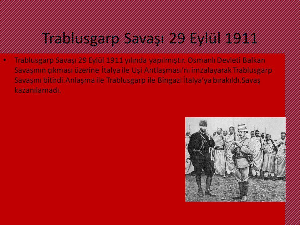 Trablusgarp Savaşı 29 Eylül 1911