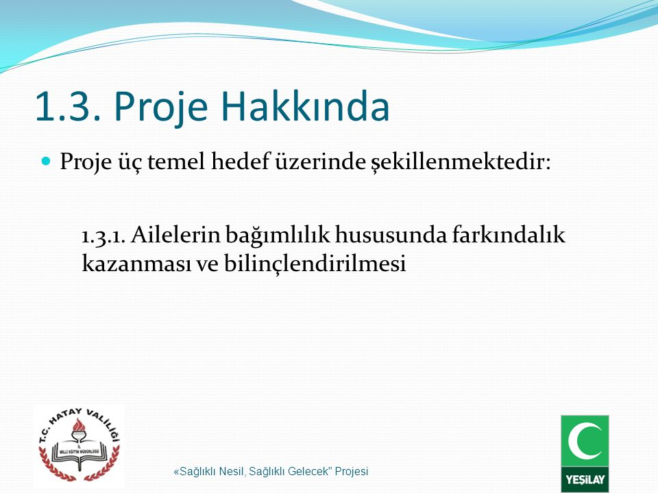 1.3. Proje Hakkında Proje üç temel hedef üzerinde şekillenmektedir: