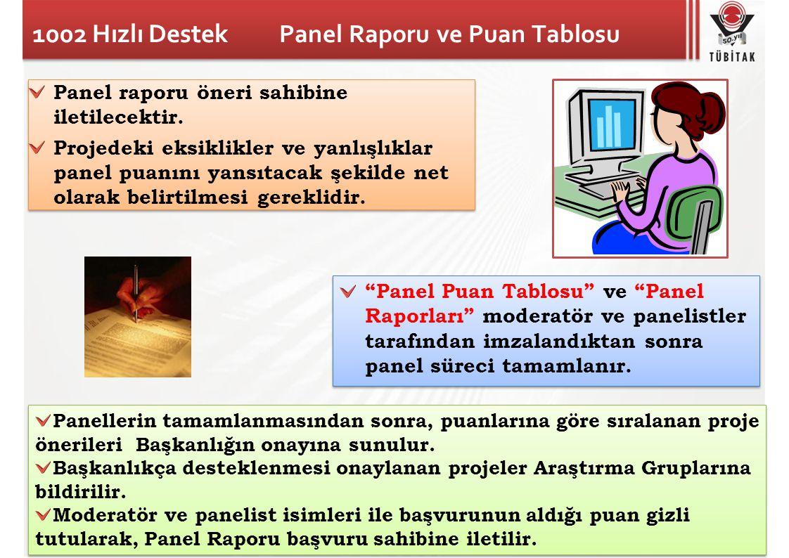 1002 Hızlı Destek Panel Raporu ve Puan Tablosu