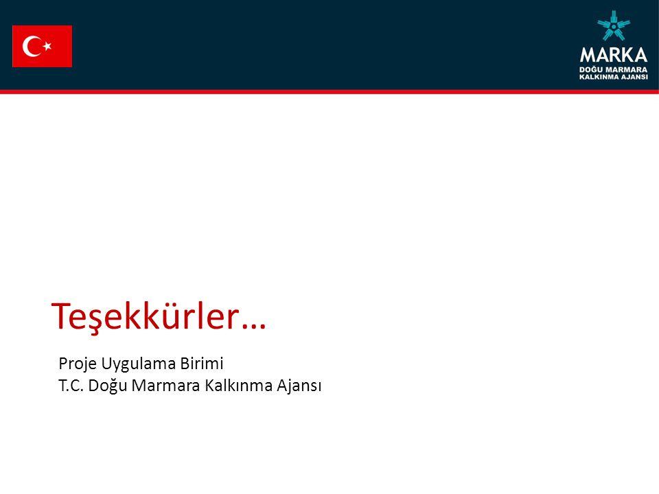 Teşekkürler… Proje Uygulama Birimi T.C. Doğu Marmara Kalkınma Ajansı