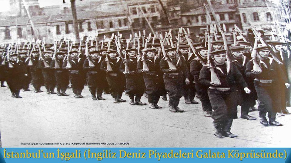 İstanbul'un İşgali (İngiliz Deniz Piyadeleri Galata Köprüsünde)