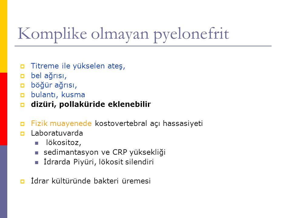 Komplike olmayan pyelonefrit
