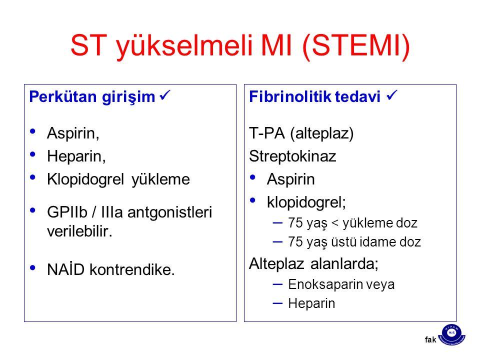 ST yükselmeli MI (STEMI)