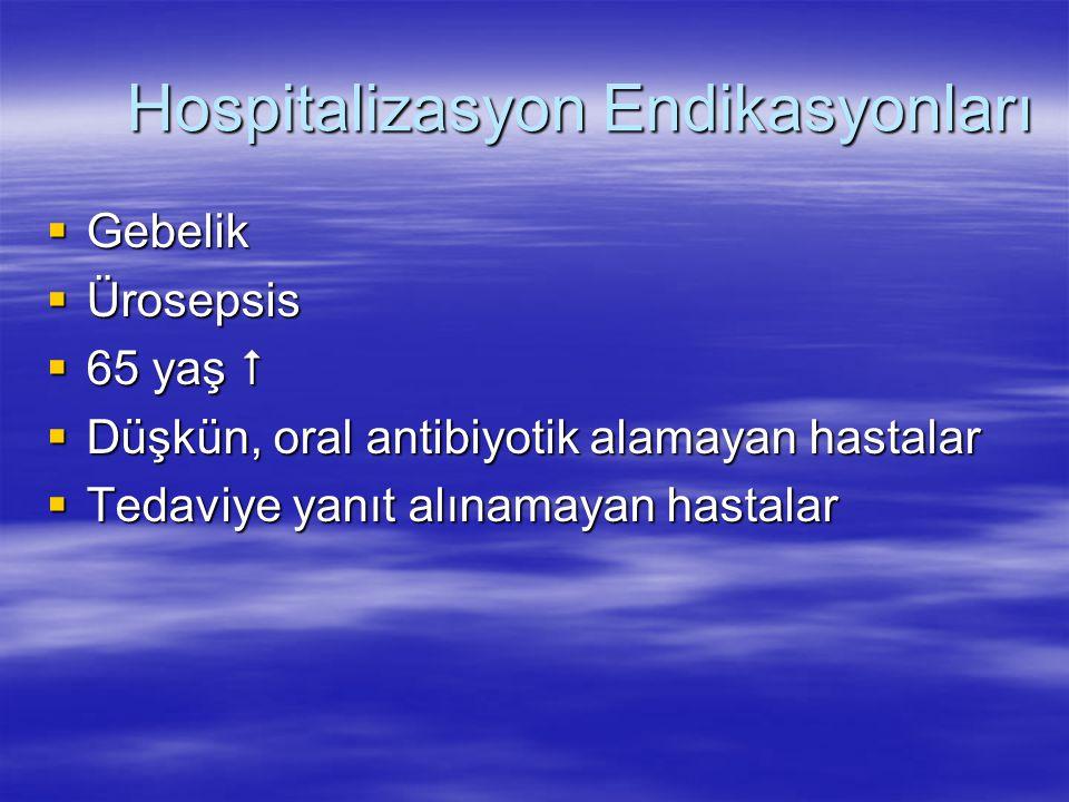 Hospitalizasyon Endikasyonları