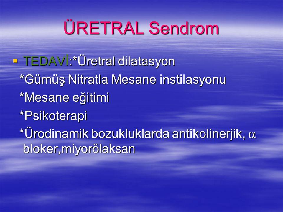 ÜRETRAL Sendrom TEDAVİ:*Üretral dilatasyon