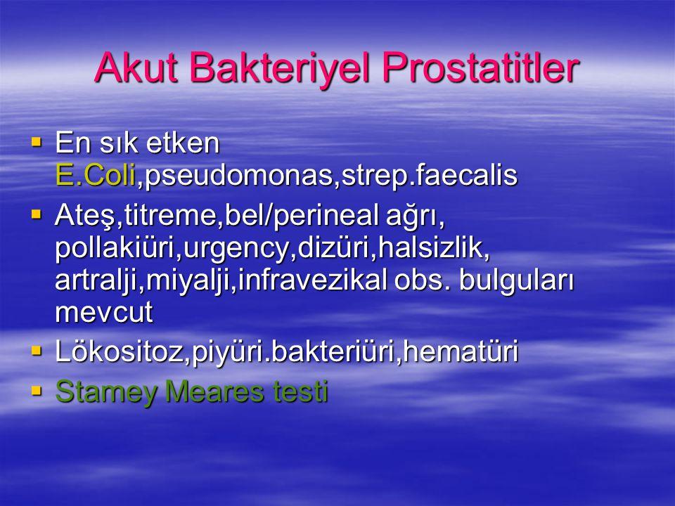 Akut Bakteriyel Prostatitler