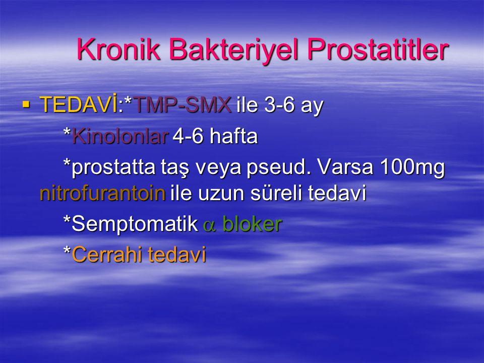Kronik Bakteriyel Prostatitler