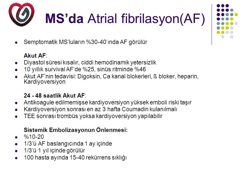 MS'da Atrial fibrilasyon(AF)