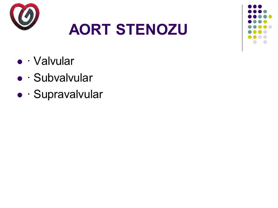 AORT STENOZU · Valvular · Subvalvular · Supravalvular