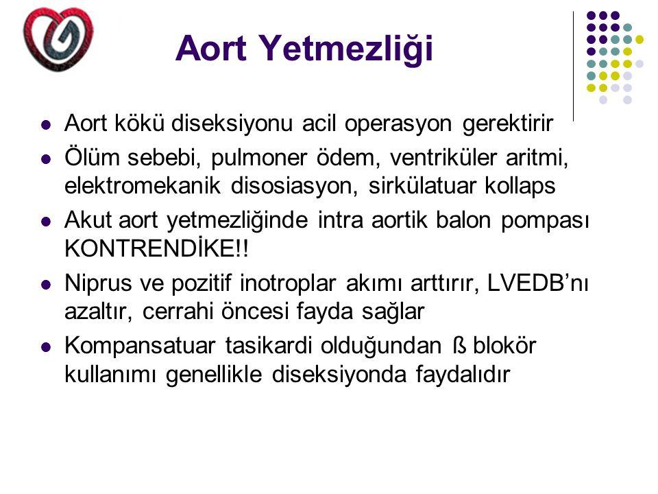 Aort Yetmezliği Aort kökü diseksiyonu acil operasyon gerektirir