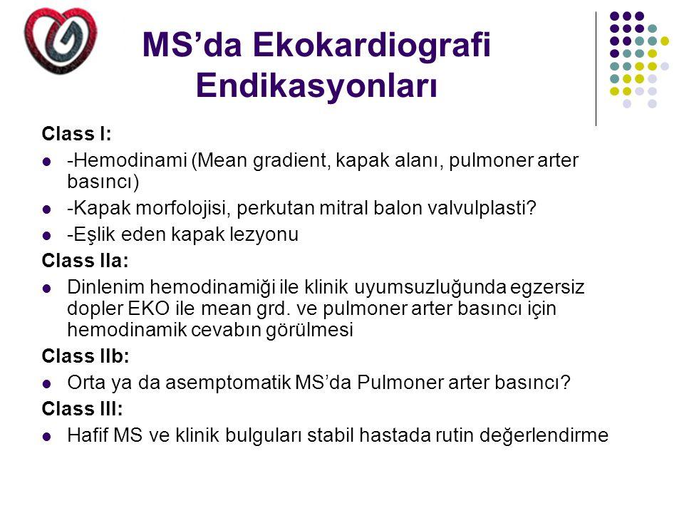 MS'da Ekokardiografi Endikasyonları