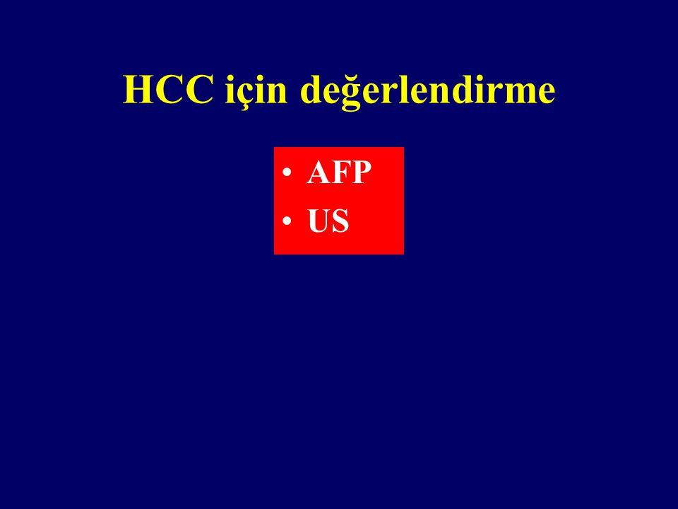 HCC için değerlendirme