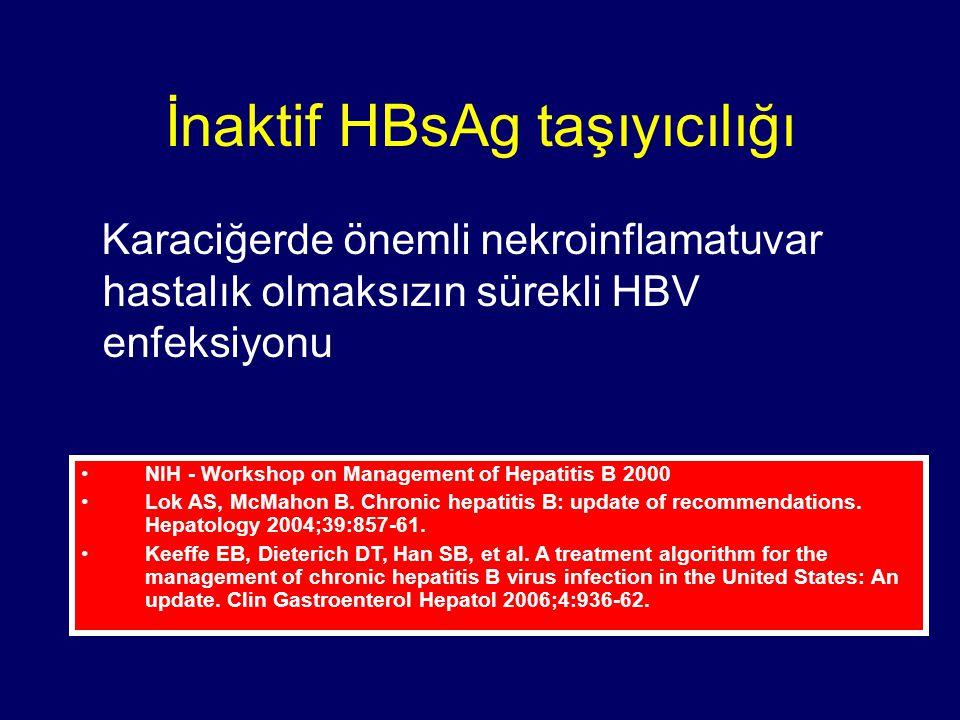 İnaktif HBsAg taşıyıcılığı
