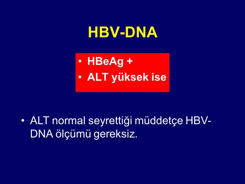 HBV-DNA HBeAg + ALT yüksek ise