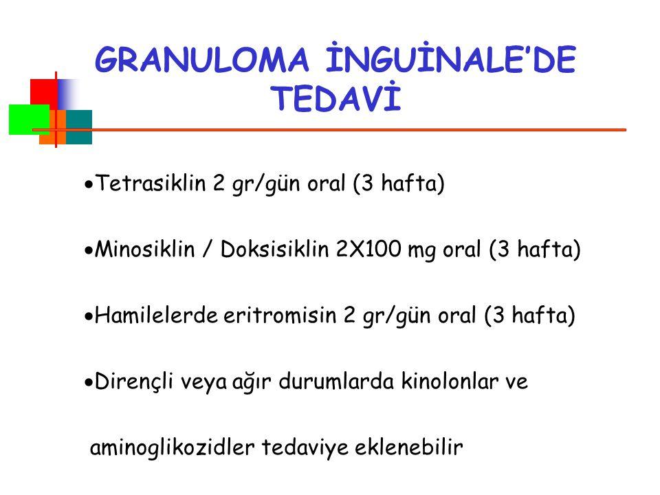 GRANULOMA İNGUİNALE'DE TEDAVİ