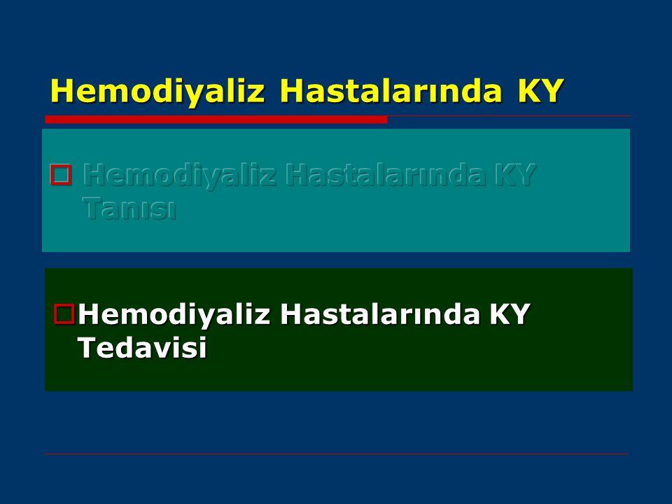 Hemodiyaliz Hastalarında KY