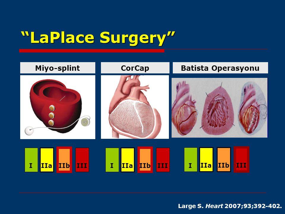 LaPlace Surgery Miyo-splint CorCap Batista Operasyonu I IIa IIb III