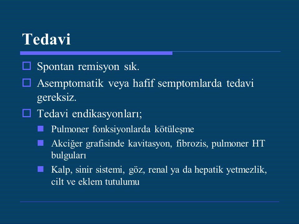 Tedavi Spontan remisyon sık.