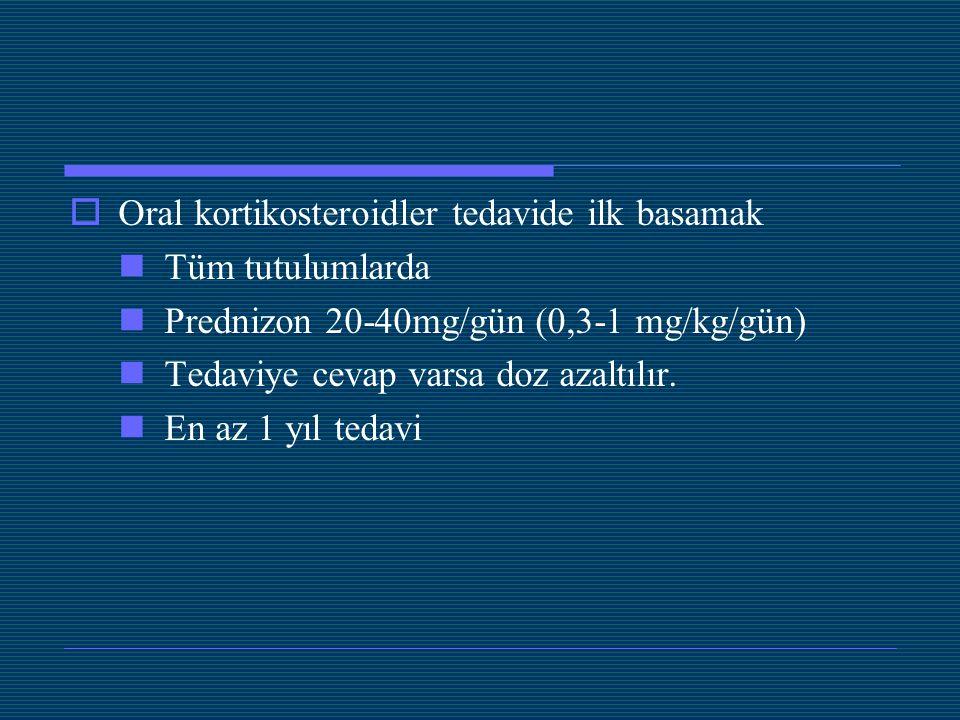 Oral kortikosteroidler tedavide ilk basamak