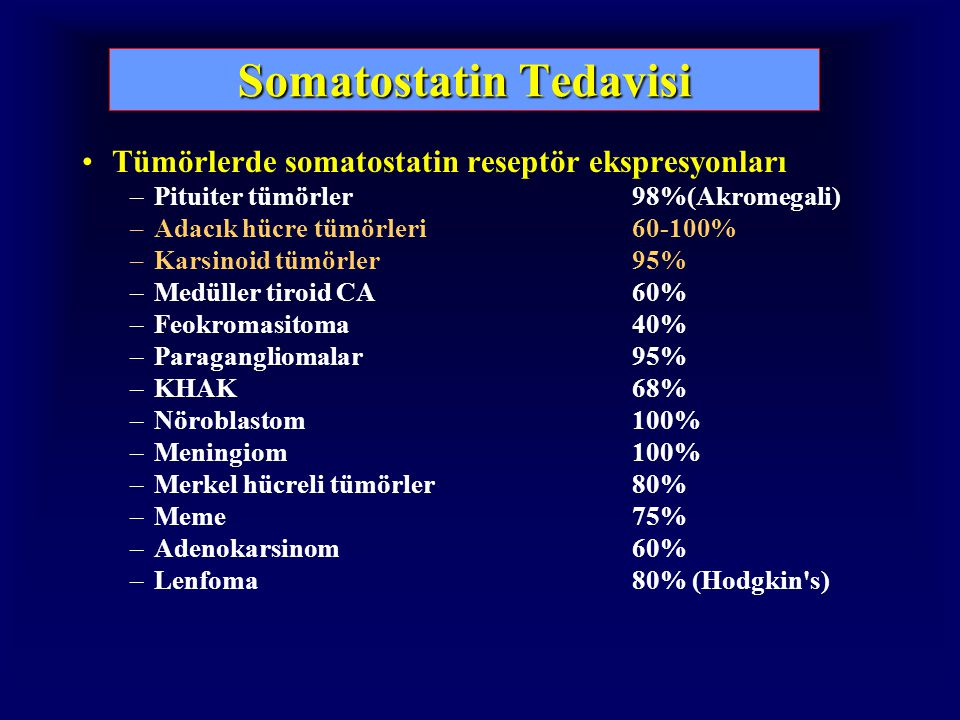Somatostatin Tedavisi