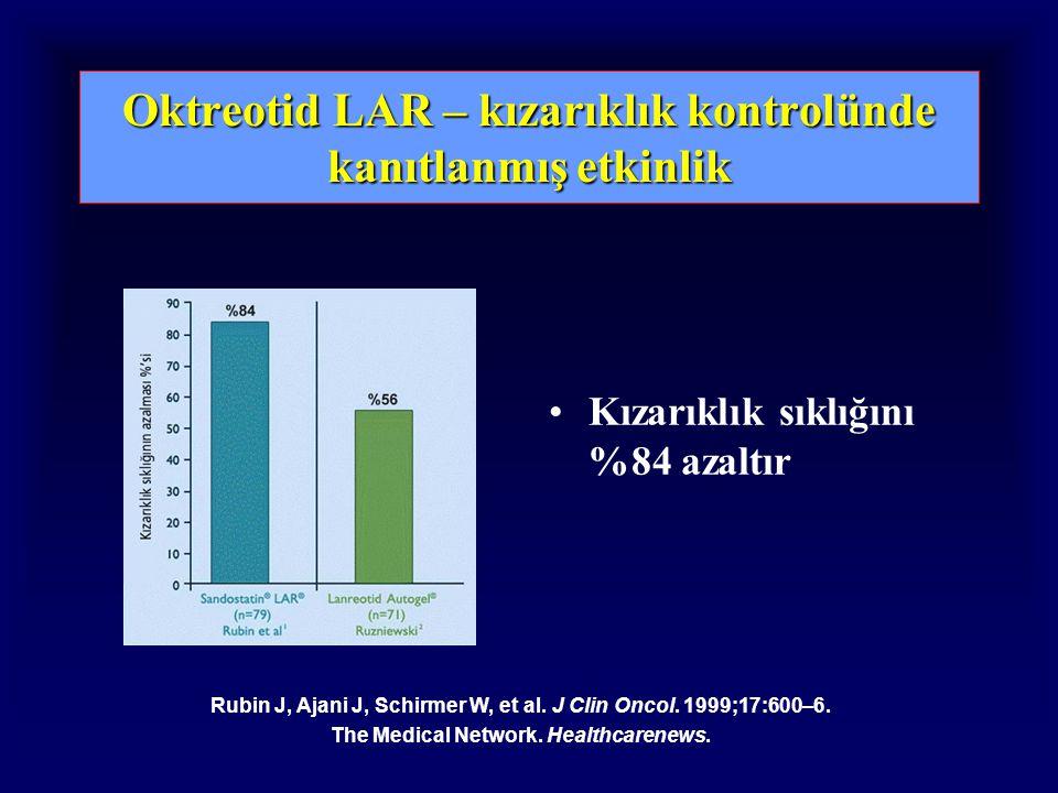 Oktreotid LAR – kızarıklık kontrolünde kanıtlanmış etkinlik