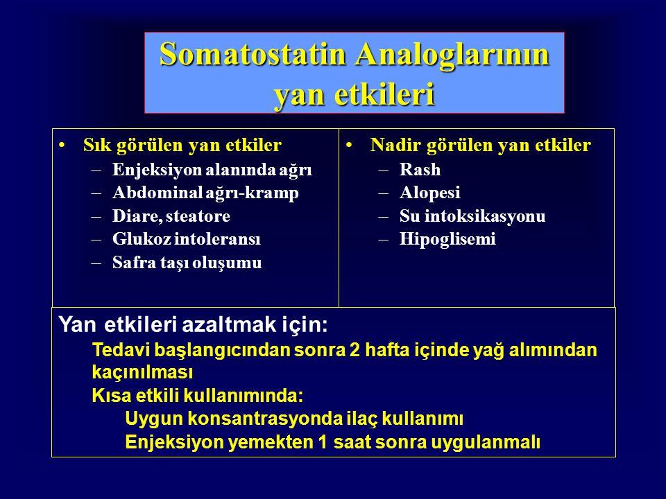 Somatostatin Analoglarının yan etkileri