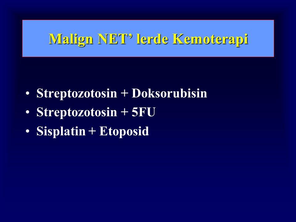 Malign NET' lerde Kemoterapi