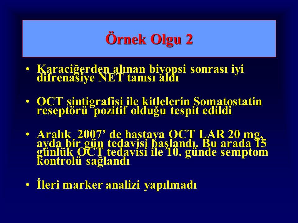 Örnek Olgu 2 Karaciğerden alınan biyopsi sonrası iyi difrenasiye NET tanısı aldı.