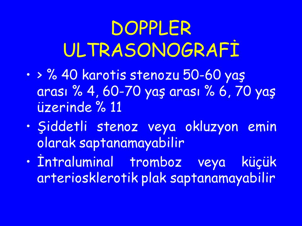 DOPPLER ULTRASONOGRAFİ