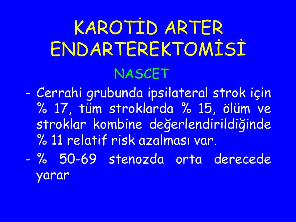 KAROTİD ARTER ENDARTEREKTOMİSİ
