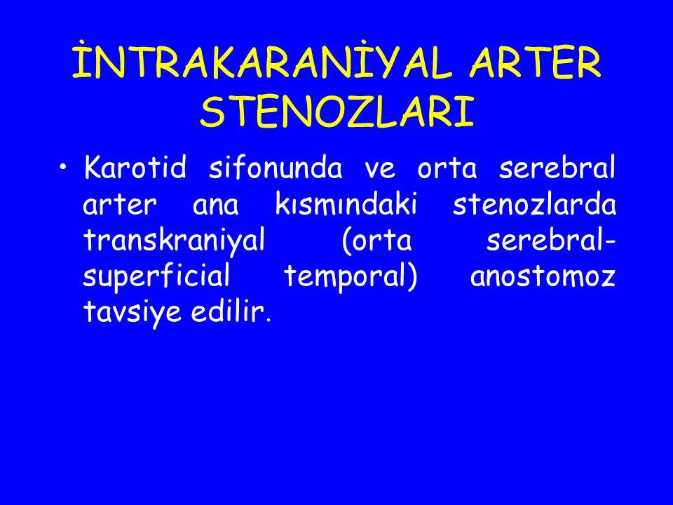 İNTRAKARANİYAL ARTER STENOZLARI