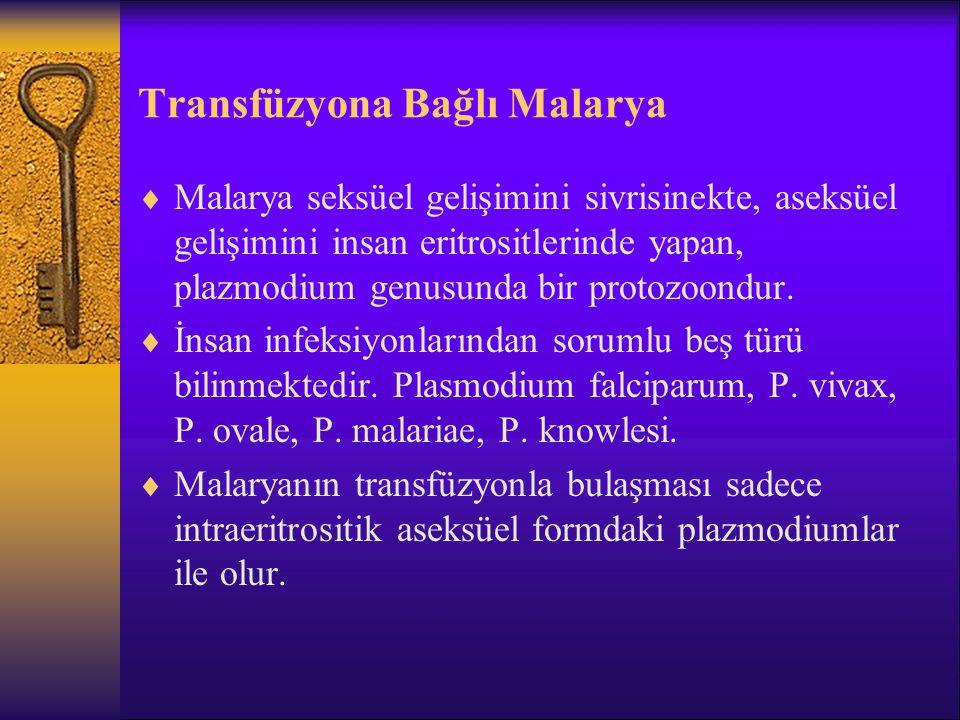 Transfüzyona Bağlı Malarya
