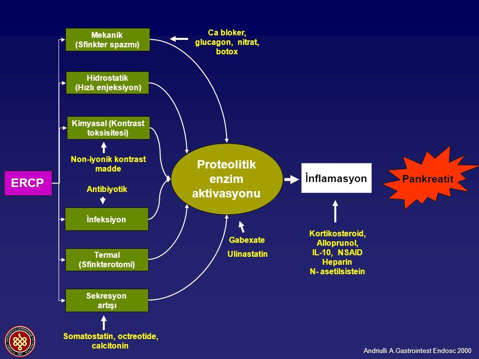 Proteolitik enzim aktivasyonu ERCP