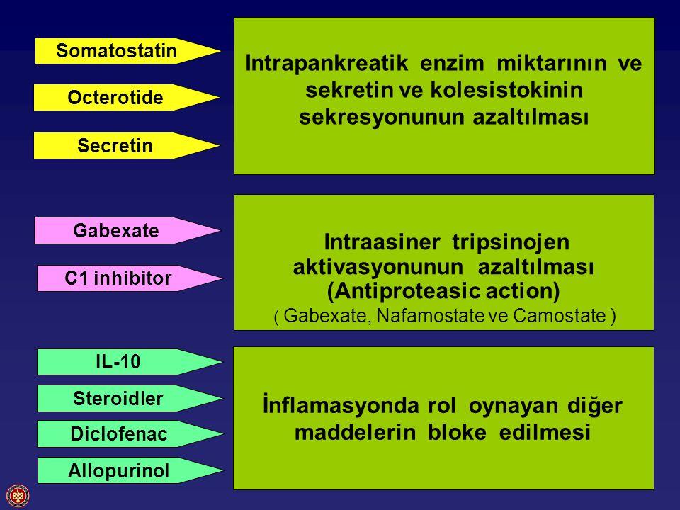 İnflamasyonda rol oynayan diğer maddelerin bloke edilmesi